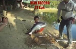miudo pescador criança