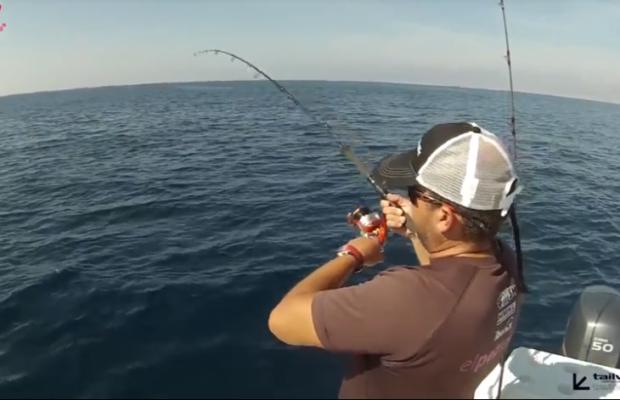 Pesca embarcada tecnicas com Black Minnow 200